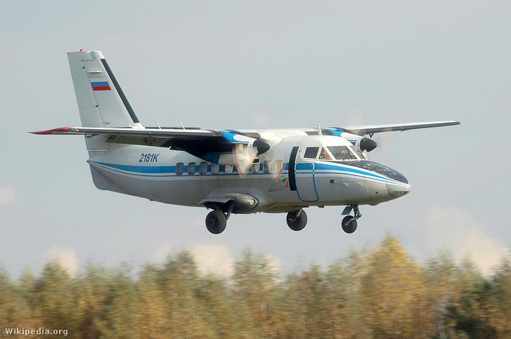 Egy L-140-es utasszállító gép
