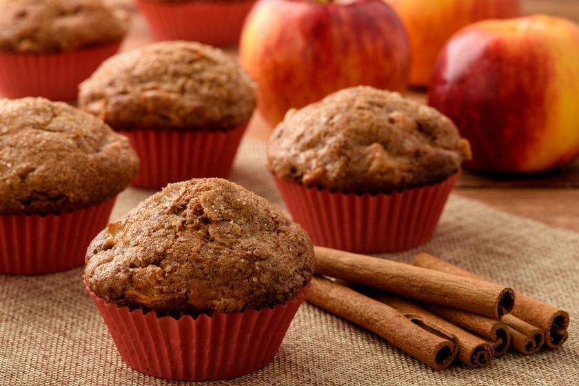almás fahéjas muffin recept