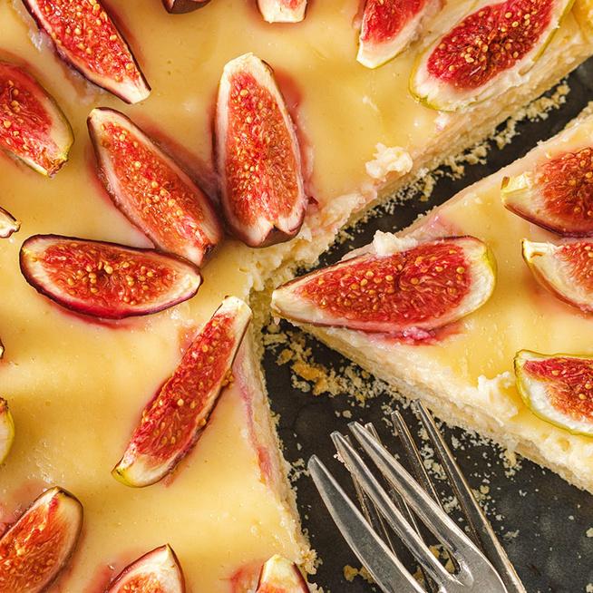 Omlós pudingos-fügés pite - Minél puhább gyümölccsel készítsd