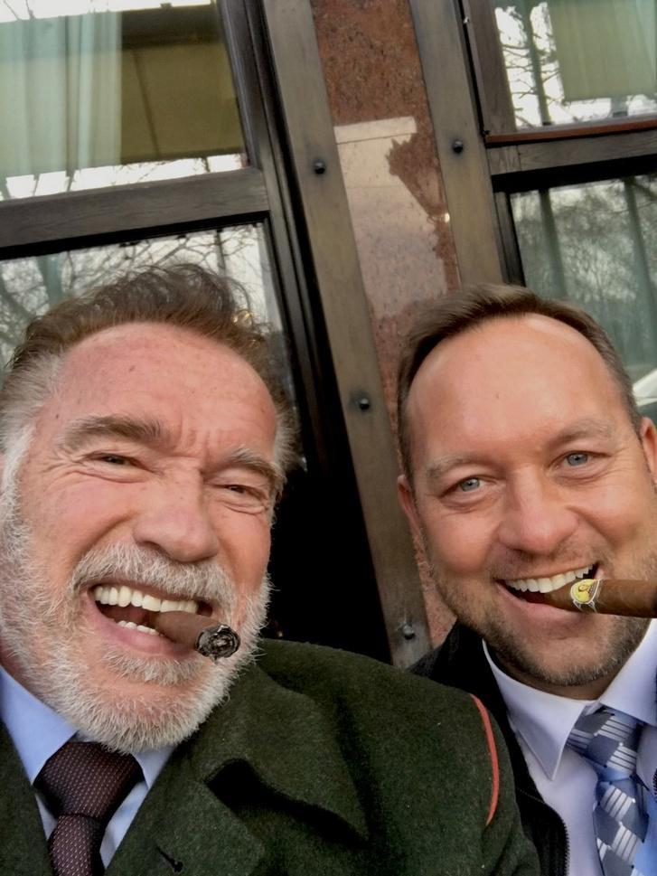 Arnold Schwarzenegger és Szedlacskó Ádám