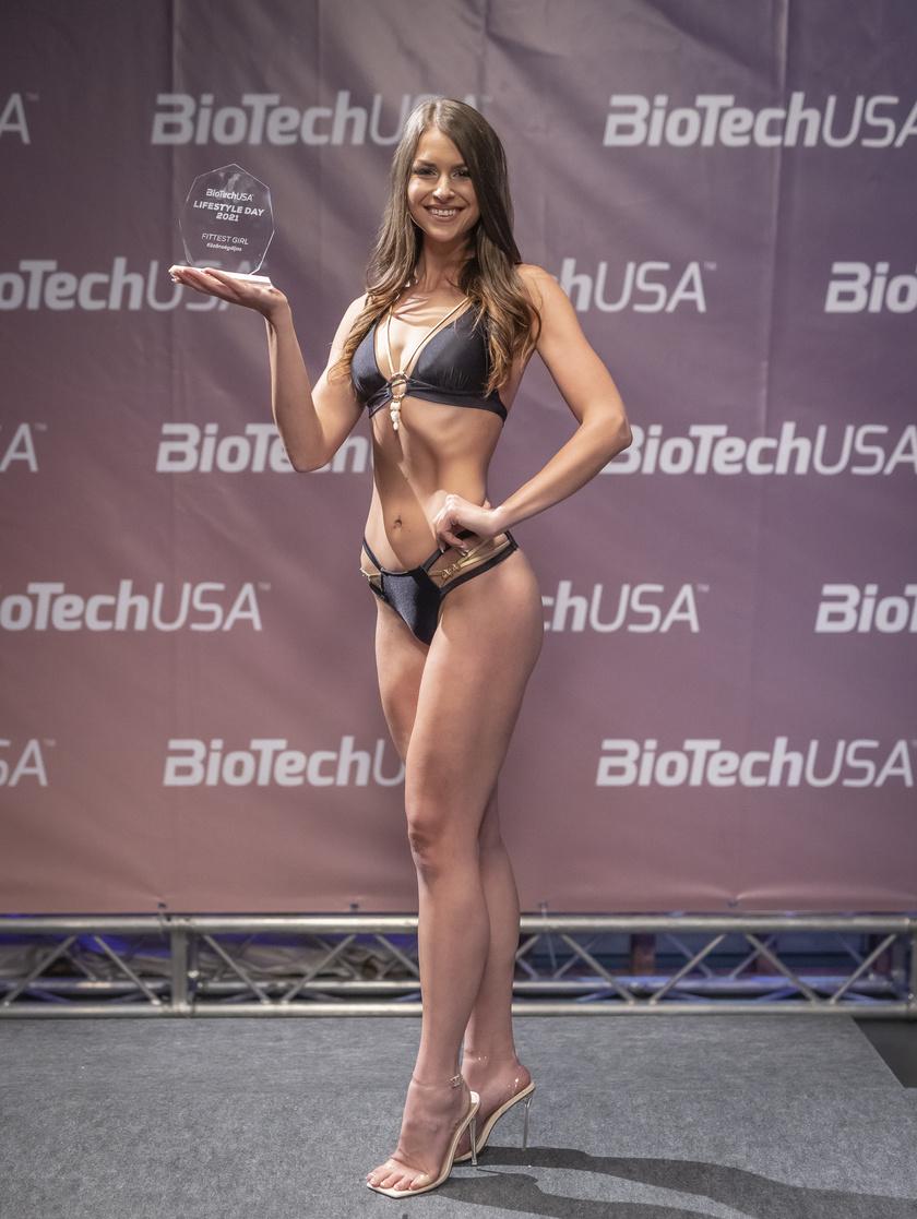 Breznay Rubina a BiotechUSA Lifestyle Day 2021 Fittest girl kategória közönségdíjasa lett.