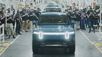 Elkezdődött a Rivian elektromos pickup gyártása
