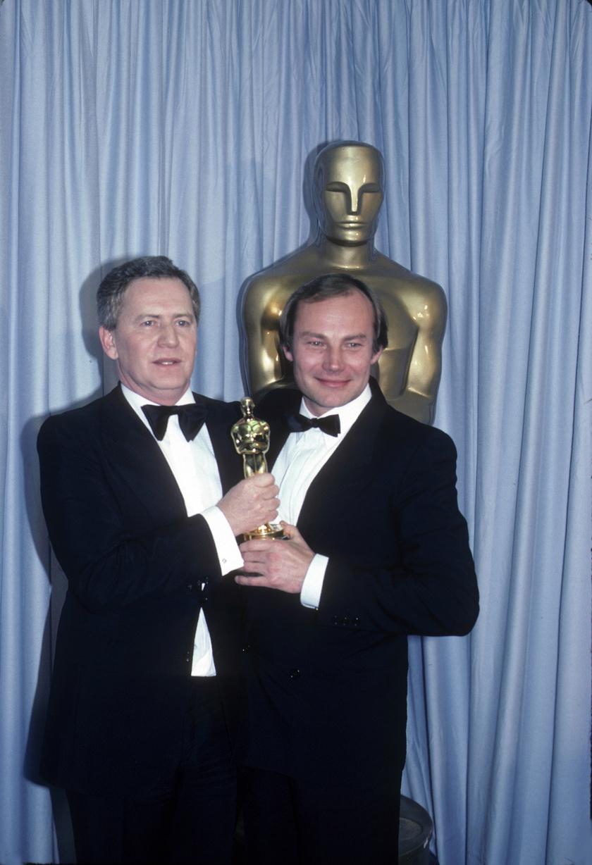 Klaus Maria Brandauer és Szabó István az 1982-es Oscar-díj-átadón.