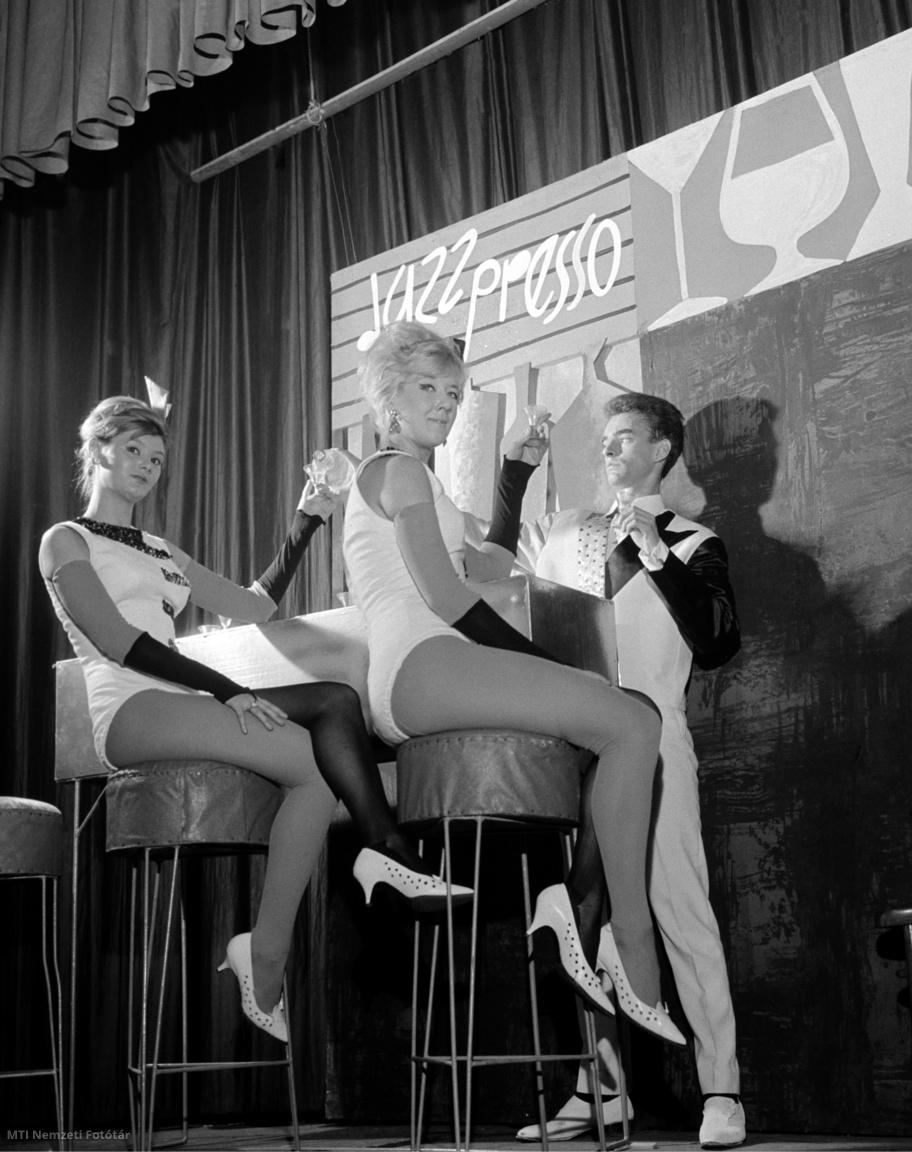 1963. január 4. A Jazz-presso fantázianevű absztrakt revüjelenet a Budapest Táncpalota új műsorából.