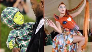 Lófej és zöld kisbaba - a legbizarrabb ruhák a Met-gáláról