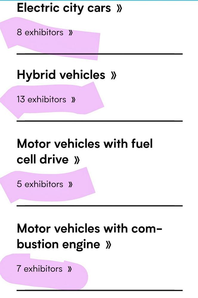 A belső égésű típusait valójában senki sem merte elhozni, de például a Tesla el sem jött, hiába volt annyira elektromos a szalon