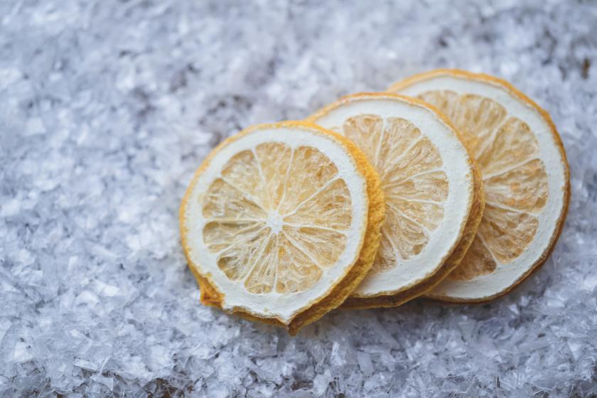 szárított citromszeletek belső