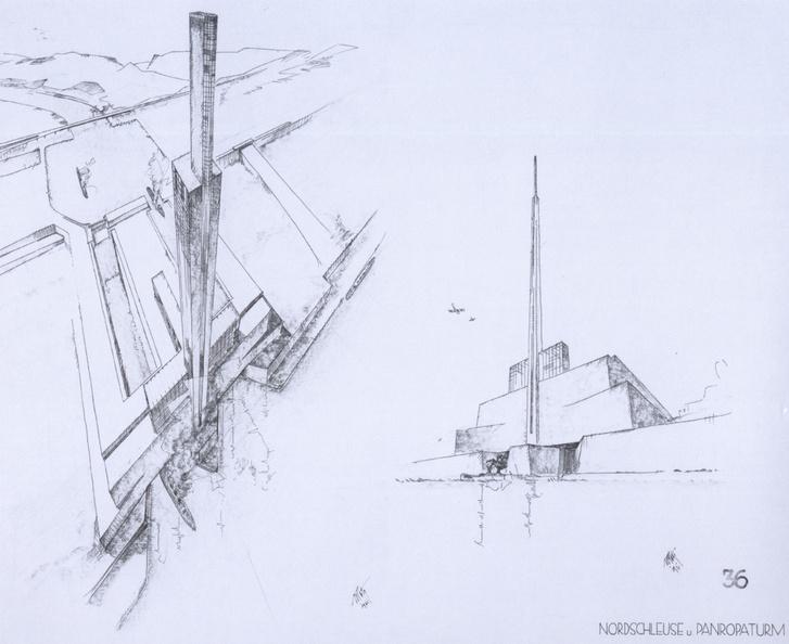 Herman Sörgel által tervezett új zsilipek a gibraltári gáton