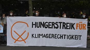 Éhségsztrájkolnak a német ifjú klímaaktivisták