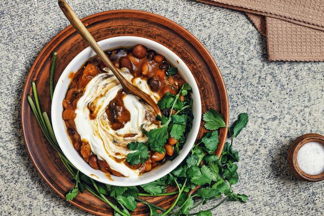 Egy kis görög joghurt is elfér a tetején, ha nem vagy vegán.