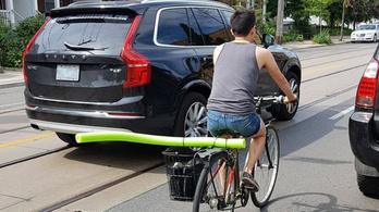 Van értelme másfél méterről előzni a bringást?