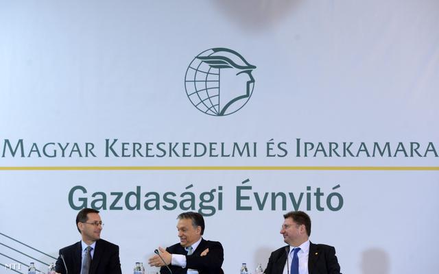Varga Mihály és Orbán Viktor a 2013-as Gazdasági Évnyitón