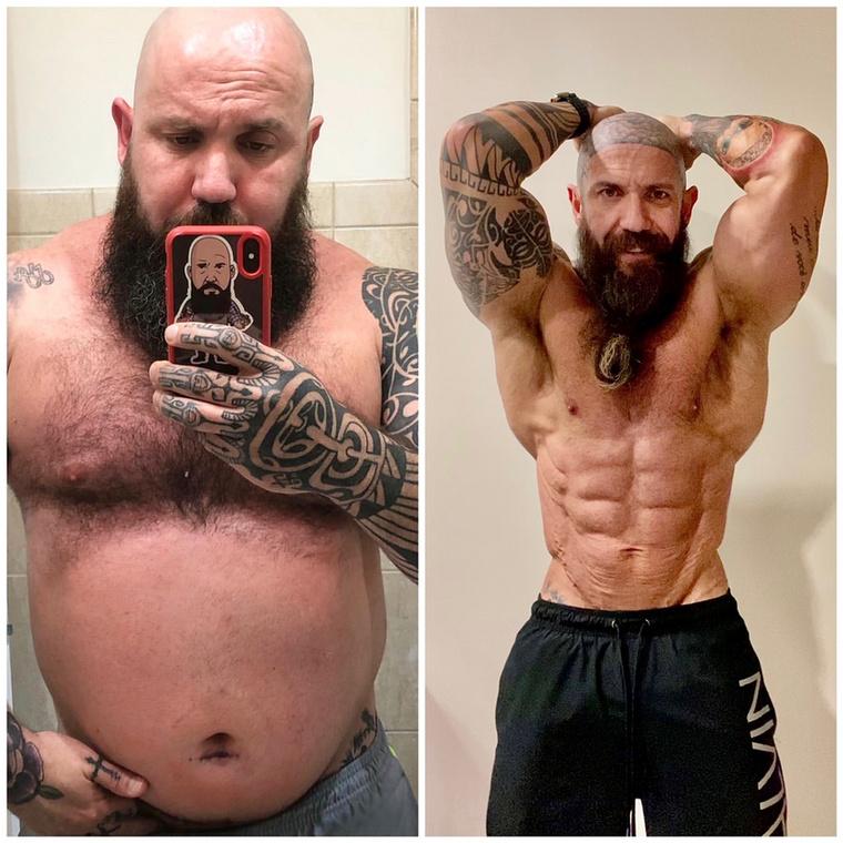 Depresszióval és elhízással küzdött, de kemény munkával impozáns izmokat növesztett az a brazil férfi, akinek az önértékelési problémákból és a szuicid gondolatokból az izzasztó edzések jelentettek kiutat