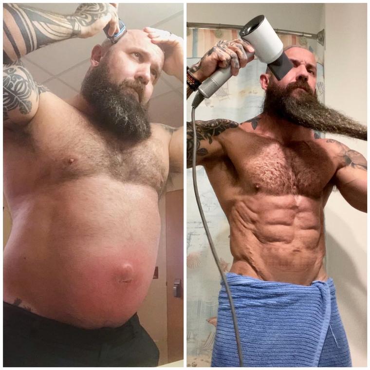 A férfi szigorú diétát követ, rengeteg húst és zöldséget fogyaszt