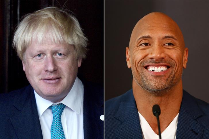 Dwayne Johnson és Boris Johnson
