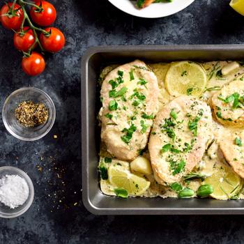 Selymes mártásban készült citromos csirkemell – Isteni finom a szaftja