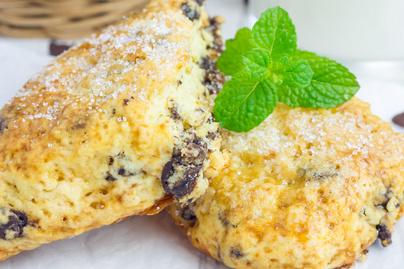 Pihe-puha scone csokidarabokkal dúsítva – Jól bírja a csomagolást