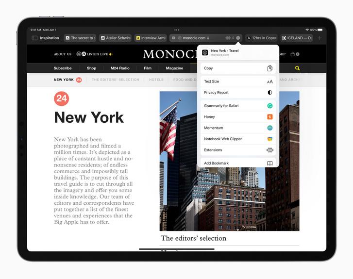 Így néz majd ki a megújult Safari böngésző az iPadOS 15 alatt