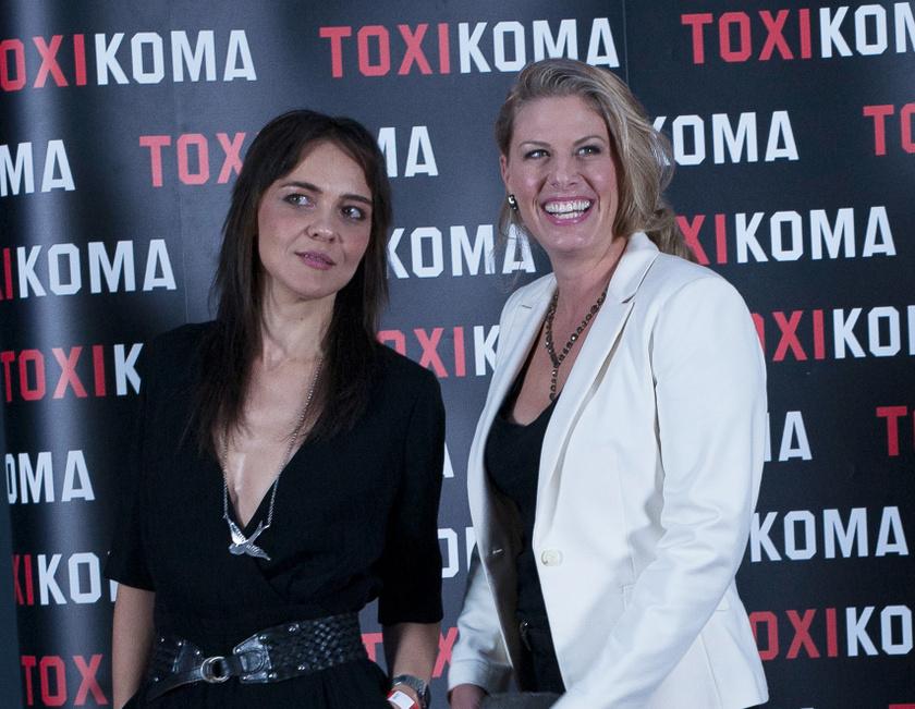 Varga Zsuzsa és Oroszlán Szonja 2021 augusztusában, a Toxikoma című film budapesti díszbemutatóján.