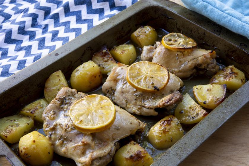 görög citromos csirke recept