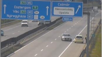 Videó: Életveszélyesnek bizonyult a jó szándék az M0-son