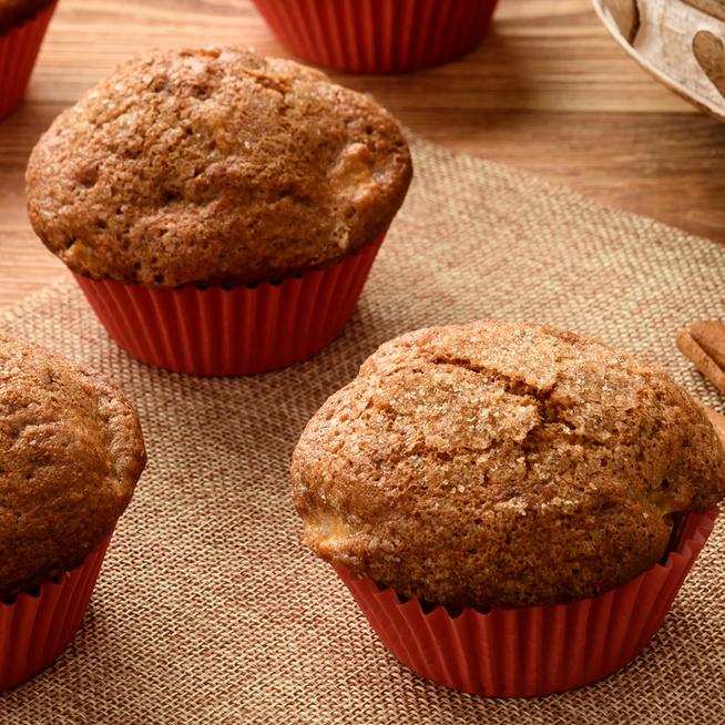 Puha almás-fahéjas muffin - Az ősz kedvenc ízei egy süteményben