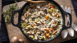 Rizses hús új szinteken: krémes, rizses csirkeegytál