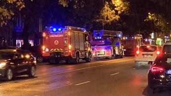 Tűz a III. kerületi Lajos utcában