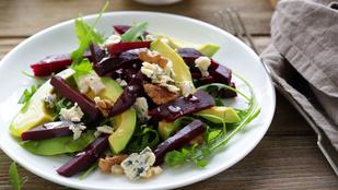 Ez az egyszerű avokádó-cékla saláta tökéletes őszi köret lesz