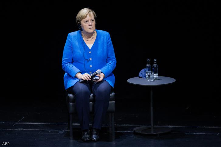 Angela Merkel Düsseldorfban 2021. szeptember 8-án