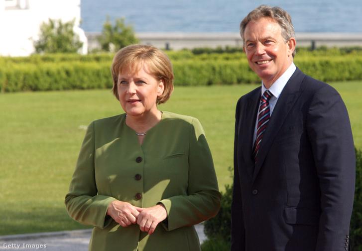 Angela Merkel és Tony Blair 2007. június 7-én