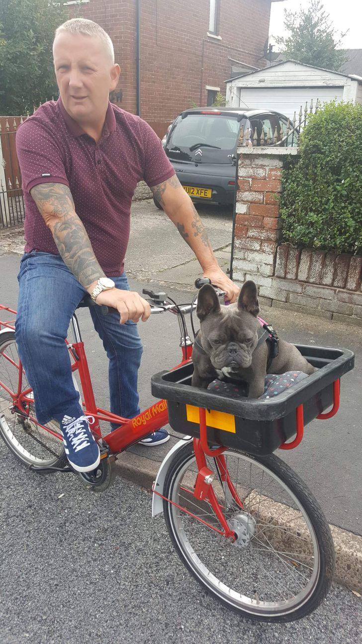 """""""Azt mondta, hogy nem akarja, hogy bármi köze is legyen a kutyámhoz - aztán egy olyan biciklit vett, amin kosár is van, hogy együtt tudjanak menni."""""""