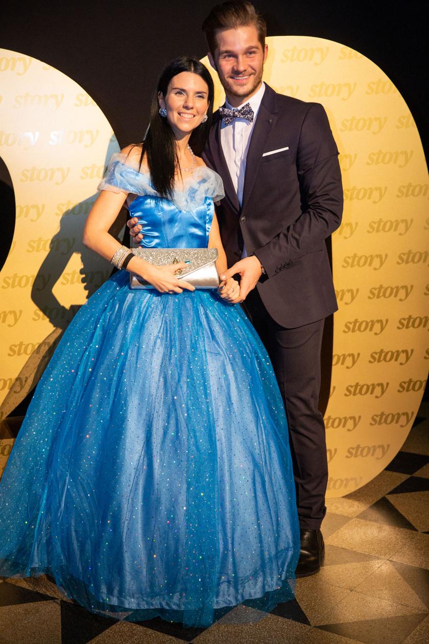 Veréb Tamás és Szandra a 2020-as, jubileumi Story-gálán.