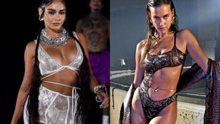Fehérneműs istennők: Rihanna divatbemutatója maga volt az erotika paradicsoma