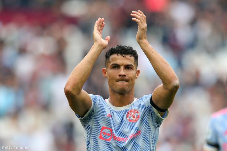 Cristiano Ronaldo a West Ham United elleni győzelmet ünnepli