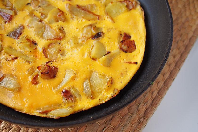 krumplis omlett
