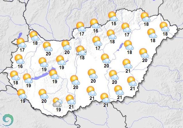 Vasárnap délelőtti időjárás-előrejelzés