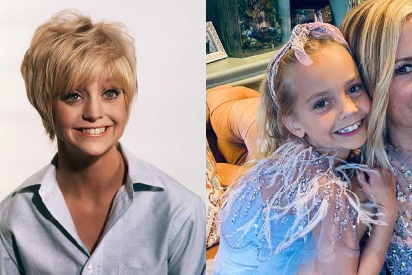 Goldie Hawn fiatalkori fotóin még szembetűnőbb, mennyire hasonlítanak Rióval.