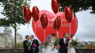 Megszavazták a melegházasság legalizálását Svájcban