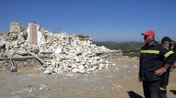 Erős földrengés volt Görögországban, többen megsérültek