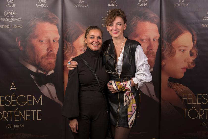 Mécs Mónikával, aki a Testről és lélekről után Enyedi Ildikó Feleségem története című filmjének is a producere volt.