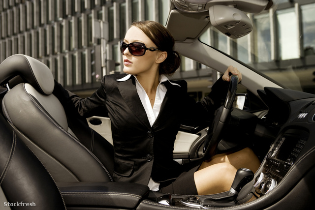 stockfresh 821857 businesswoman-driving-a-car sizeM