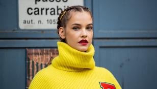 Palvin Barbara, az ezerarcú modell, tarolt a milánói divathéten