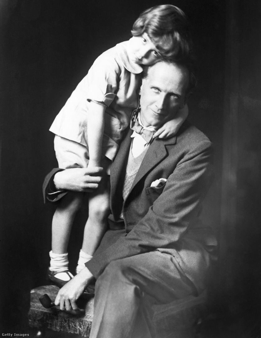 A. A. Milne és Christopher Robin Milne.