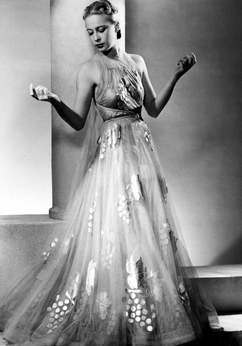 Sonia Vionnet modell egy Madeleine Vionnet ruhában.