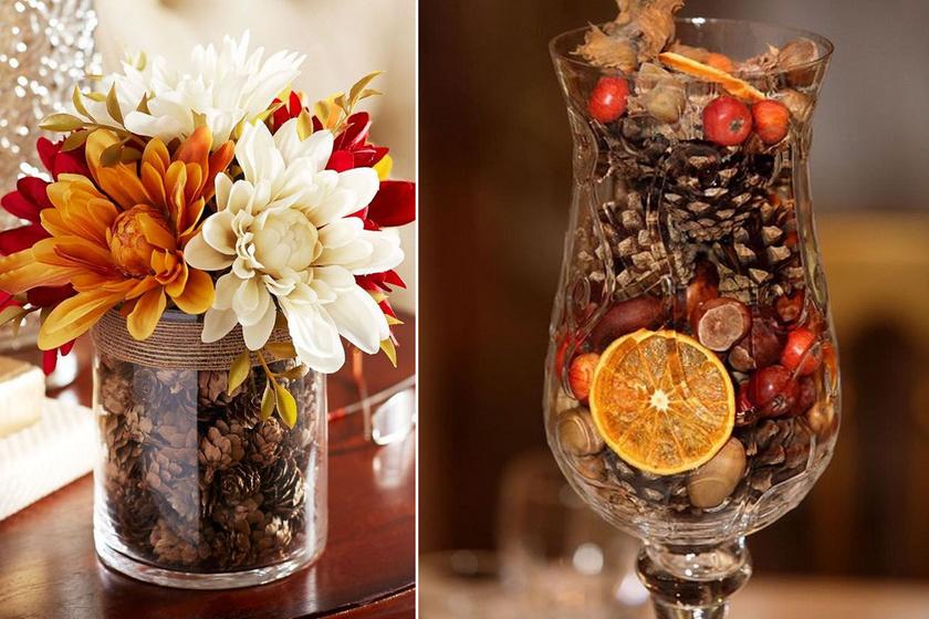 10 csodaszép asztaldísz őszi termésekből: pofonegyszerűek, mégis nagyon mutatósak