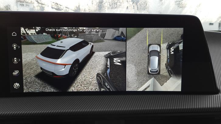 A hatalmas kocsihoz nem is árt a sok kamerás segítség, és radar is van
