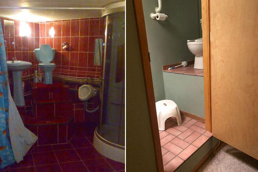 Ezeket a WC-ket olyan magasra tették, hogy trónnak is beillenének.