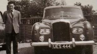 Közel 60 éve sofőrként vezette: veterán Bentley-vel lepték meg a férfit 100. születésnapjára