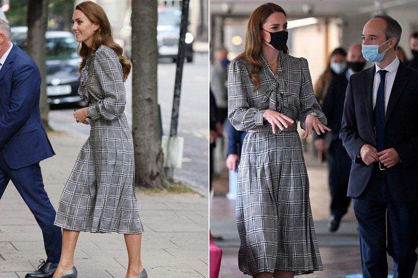 Katalin hercegné tegnap egy Zarából vásárolt ruhában ment egy hivatalos látogatásra.